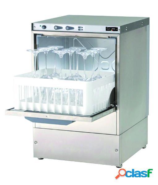 Lavabicchieri elettronica monofase - cesto 40x40cm altezza 29cm - dosatore brillantante e detergente installato