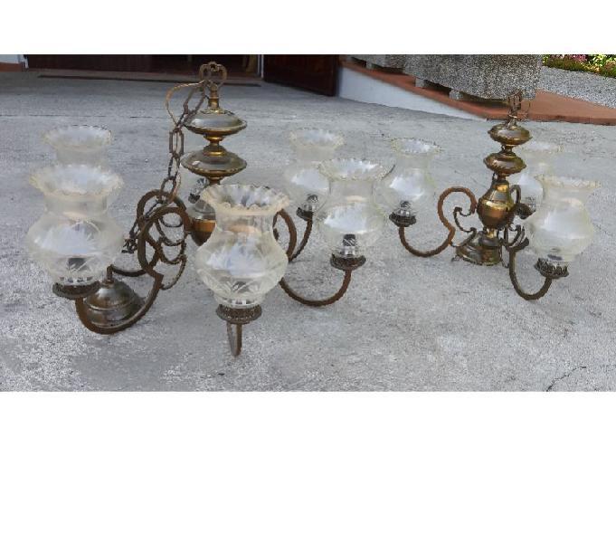 Lampadari ottone anni '60