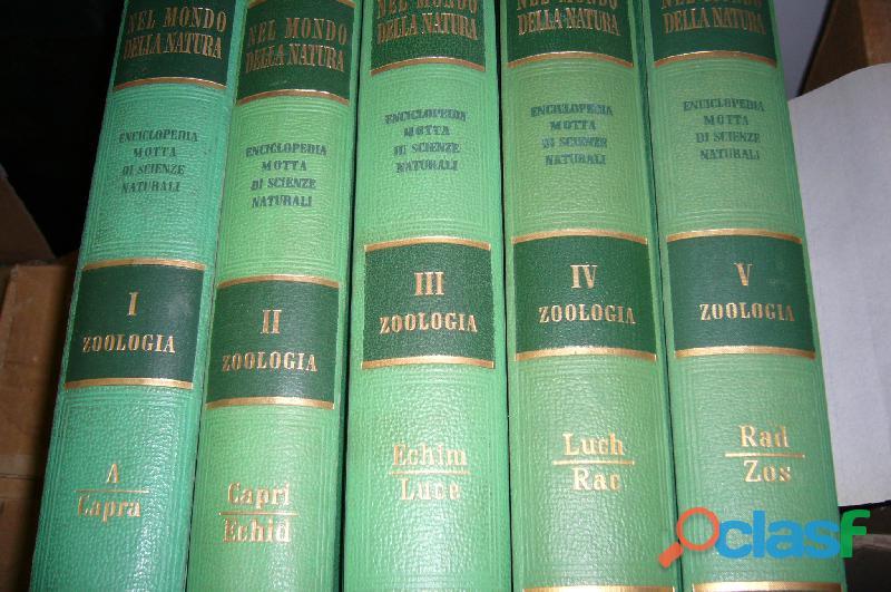 """Enciclopedia zoologia """"Nel mondo della natura"""" MOTTA 5 vol."""