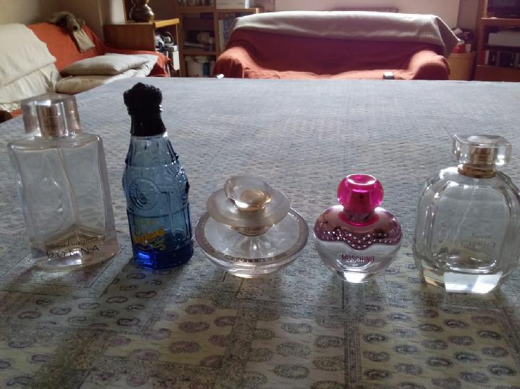 5 bottiglie di profumo da collezione