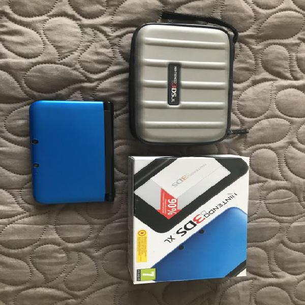 Nintendo 3ds xl blu con 5 giochi + custodia