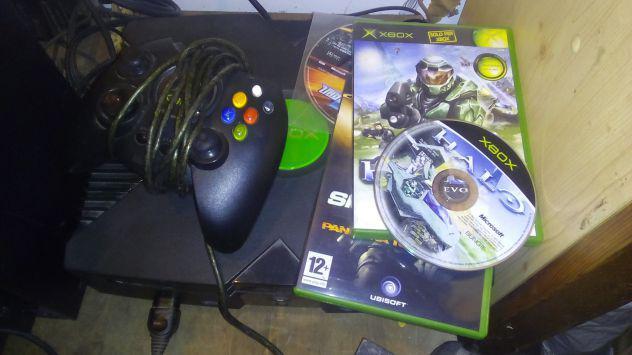 Xbox 1 classic con evox mod, 2 joypad, 2 giochi