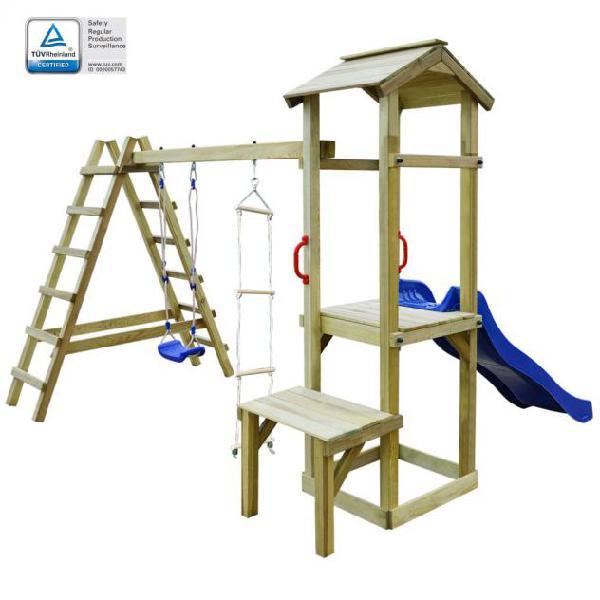 Vidaxl casa gioco con scivolo scale altalena 286x228x218cm