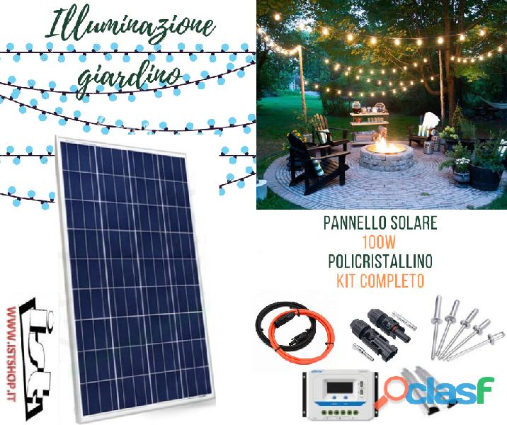 Pannello solare 100w illuminazione giardino