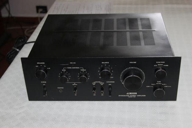 Amplificatore vintage analogico emerson selene 6250 anni '70