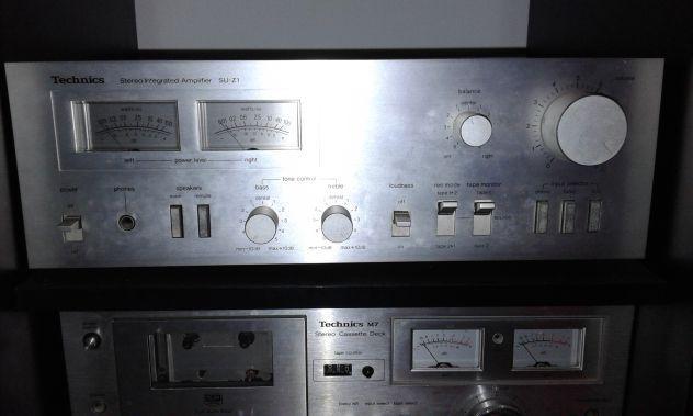 Amplificatore, blocco mangia-cassette e casse tecnhics anni