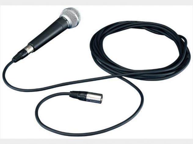 Microfono + cavo xlr xlr 5mt nuovo