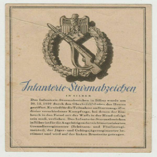 Cartolina orig. diist. assalto fanteria (infantry assault