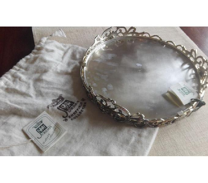 Piatto di portatatortiera in silver plated mod.scheffield