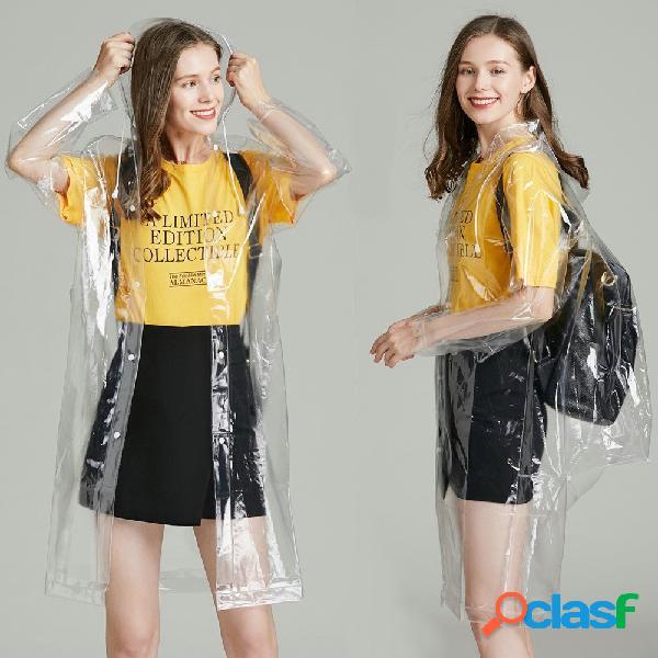 Protezione ambientale moda trasparente per adulto impermeabile