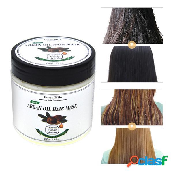 200ml maschera per capelli all'olio di argan cura dei capelli senza vapore riparazione dei capelli trattamento per il cuoio capelluto dei capelli cura dei capelli