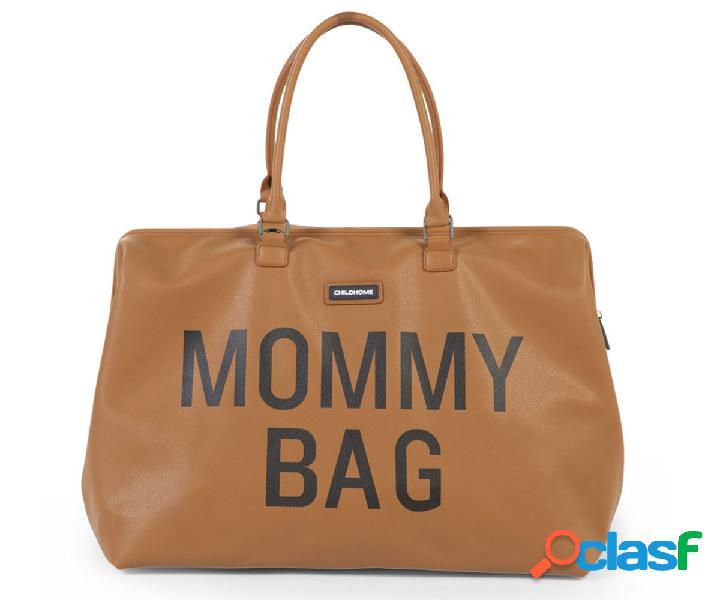 Borsone mommy bag pelle camel