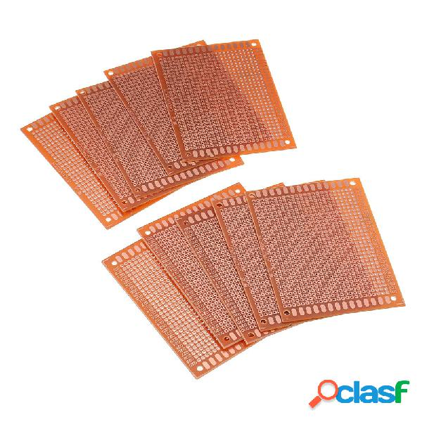 10pcs scheda pcb universale 7x9cm 2,54mm foro passo fai da te prototipo carta circuito stampato pannello bordo unilatera