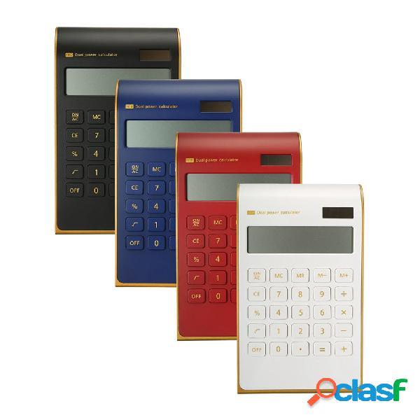 Elettronica solare dual power calculator ultra 10 cifre funzione standard per uso in ufficio