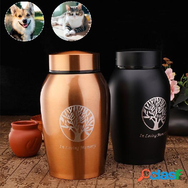 Memoriale per ceneri per animali domestici supporto per urina acciaio inossidabile creativo a tenuta stagna vaso