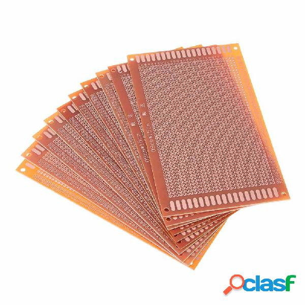 10pcs scheda pcb universale 9x15cm 2.54mm foro passo fai da te prototipo carta circuito stampato pannello bordo unilater
