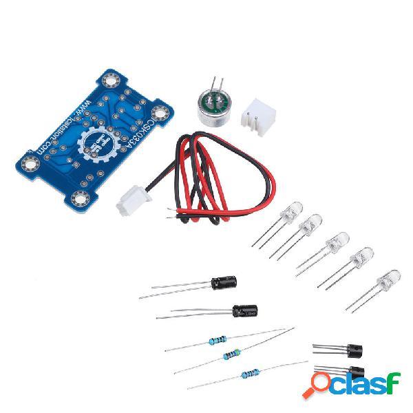 Voice control 5mm green led melody light kit di produzione elettronica parti di produzione divertenti fai-da-te