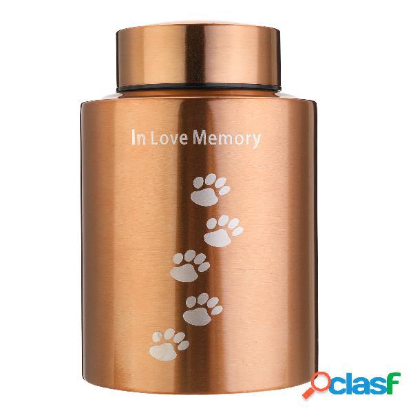 Contenitore commemorativo vaso per porta ceneri di cremazione in pet in acciaio inossidabile per mini gatti di cane
