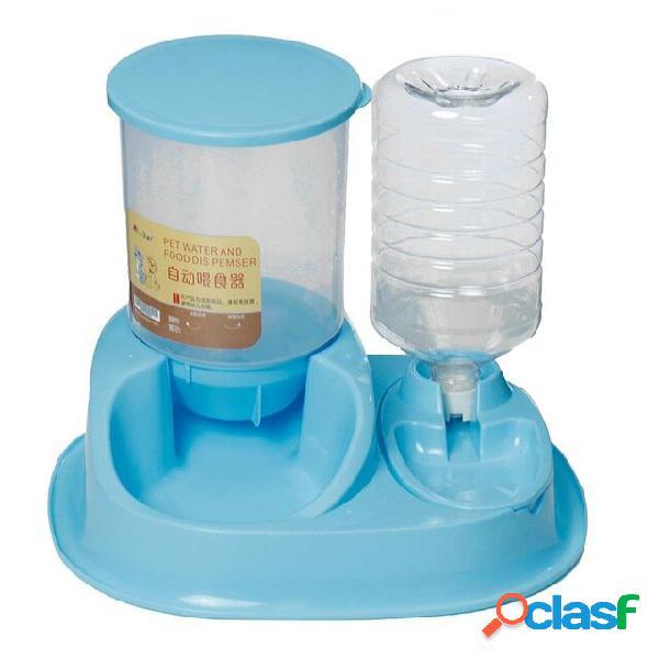 Dispenser di acqua per animali domestici biberon alimentatori automatici per animali domestici cani gatti pet smart feed
