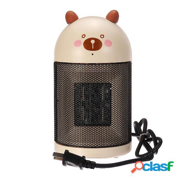 220v 500w mini riscaldatore da tavolo da tavolo ventilatore elettrico silenzioso scaldino invernale elettrico ufficio pe