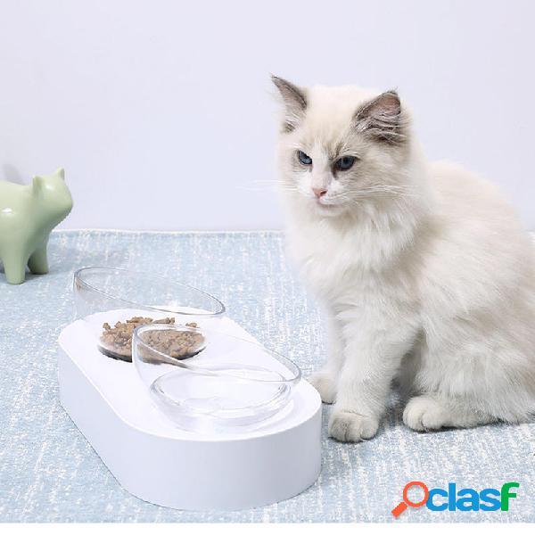 Petkit ciotola per animali domestici piatti per alimentazione ciotole per doppio alimentatore regolabili tazza per acqua