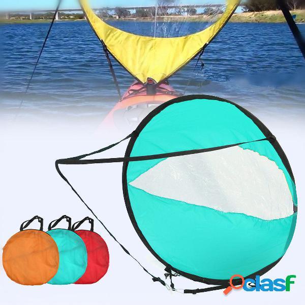 Kayak sail scout downwind wind paddle canottaggio gommone gonfiabile popup canoa kayak accessori