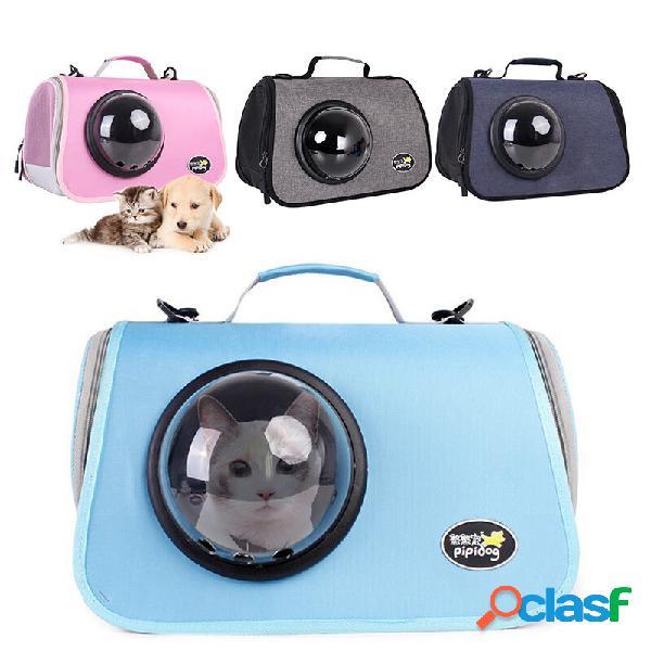 Eva cat go-out bags trasportatore portatile traspirante pu borsa per animali da compagnia cat space capsule