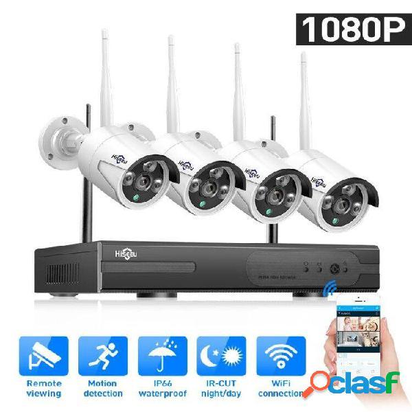 Hoseeu 4ch sistema cctv bullet wireless ip 920p nvr wifi fotografica sistema di sorveglianza home security system eu plu