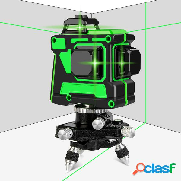 Luce verde 3d 12 linee laser misura digitale rotante autolivellante di livello 360 °