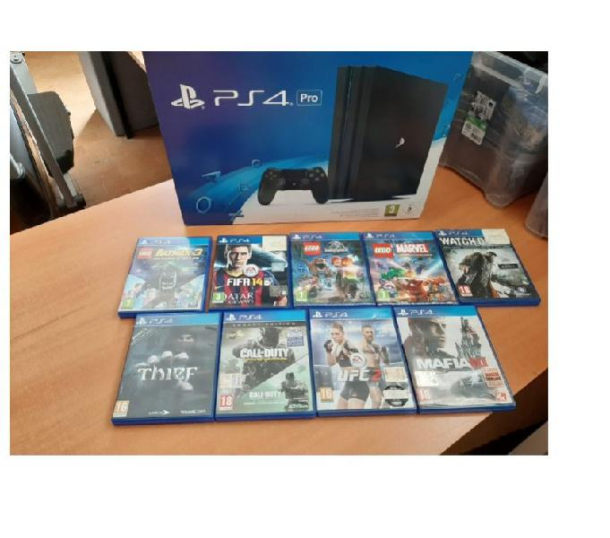 Sony playstation 4 pro 1tb black con 9 giochi