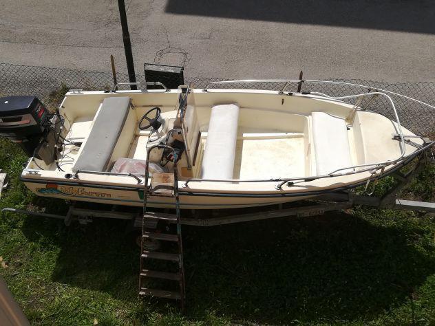 Barca 4,5 m. con motore e carrello