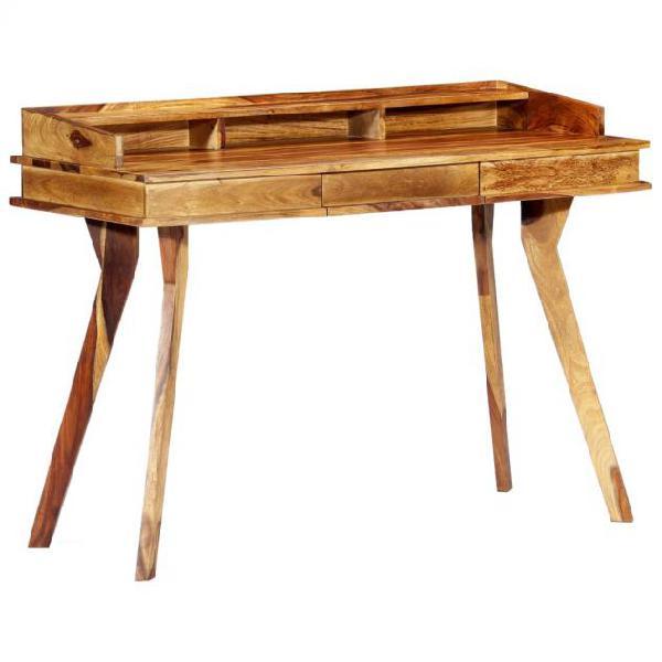 Vidaxl scrivania 115x50x85 cm in legno massello di sheesham