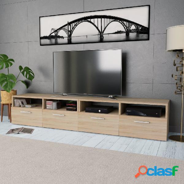 Vidaxl mobile porta tv 2 pz in truciolato 95x35x36 cm rovere