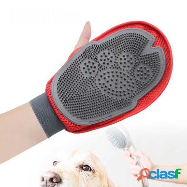 Silicone magia guanto da bagno per animali gatto cane capelli guanto per rimuovere massaggio pulizia capelli pettine pen