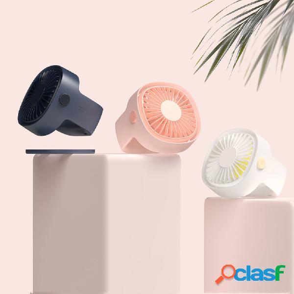 Bakeey mini fan ventilatore da tavolo rotante per estate ventola di ricarica usb a basso rumore naturale a basso rumore