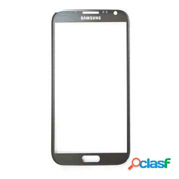 Vetro da display per samsung galaxy note 2 n7100, n7105 cdma - grigio