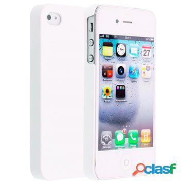 Custodia rigida rivestita code per iphone 4 / 4s - bianca