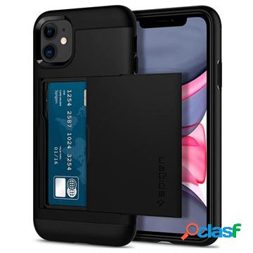 Cover spigen slim armor cs per iphone 11 - nera