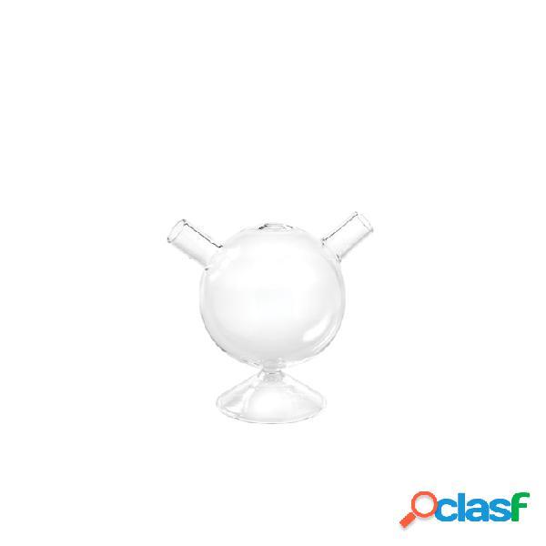 Bicchiere il cosino con base e due imboccature in vetro soffiato cl 23 - trasparente