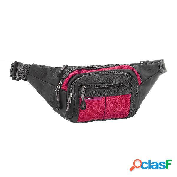 Sport waist borsa marsupio uomo donna hip cintura borsa da viaggio con tasca a marsupio