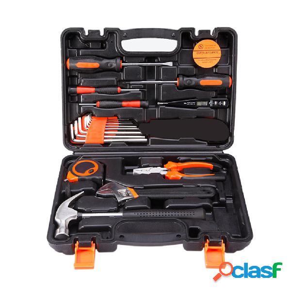 19 in 1 kit di utensili per uso domestico kit di precisione hardware cacciavite strappo hammer strumento per lavori in l
