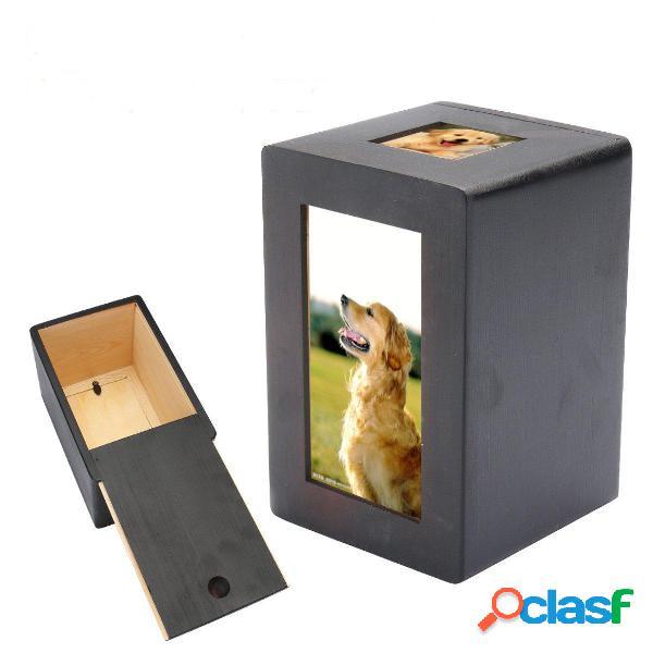 Cucciolo di animale per animali domestici cremation urn memorial keep sake peace photo scatola rettangolo nero