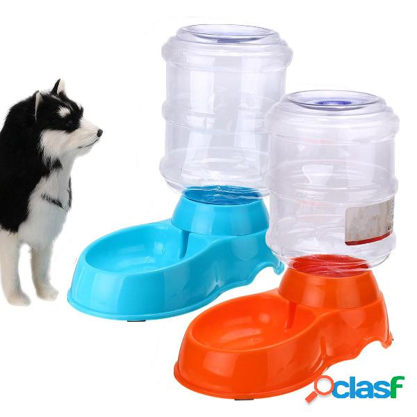 Dispenser automatico per bottiglie di plastica per cani grandi per animali domestici con catenina da 3,8 litri