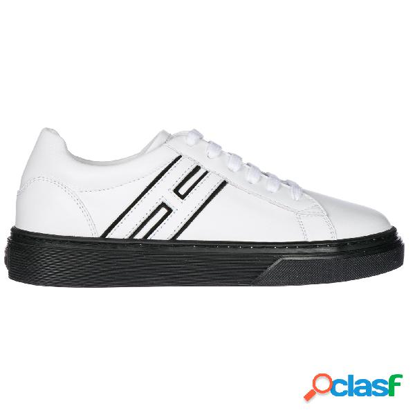 Scarpe sneakers bambino pelle h340
