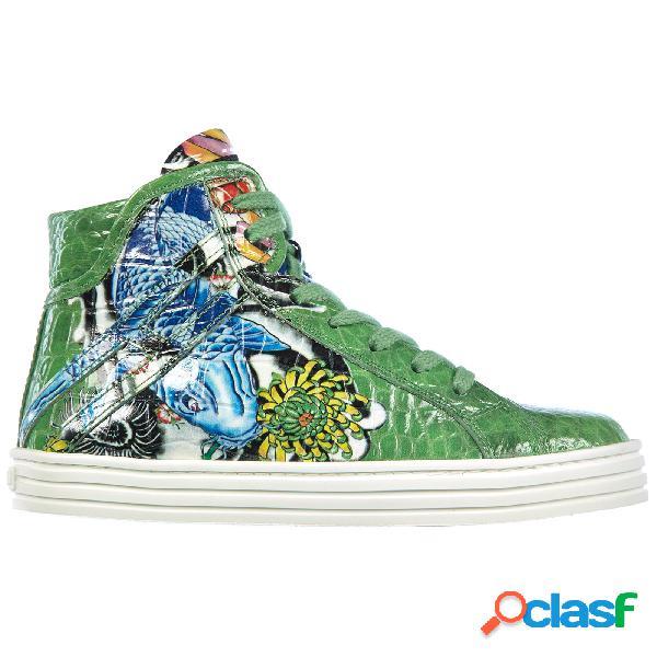 Scarpe sneakers bambino pelle r141