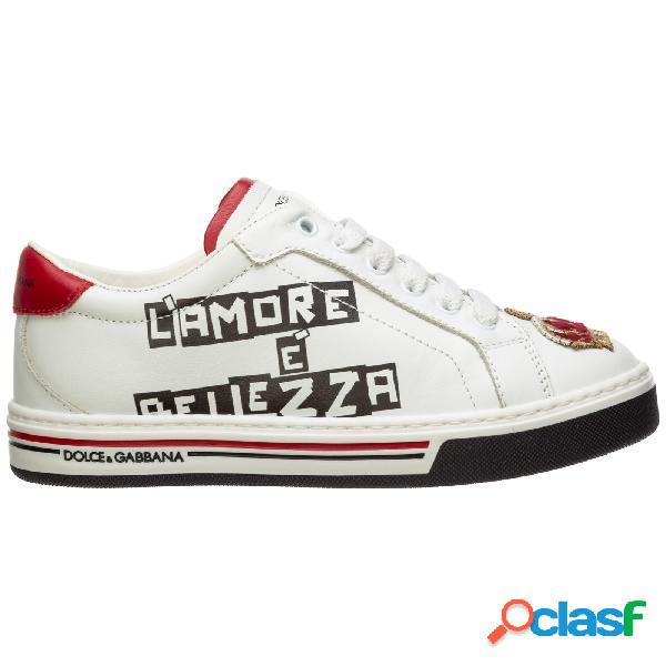 Scarpe sneakers bambino pelle dg king