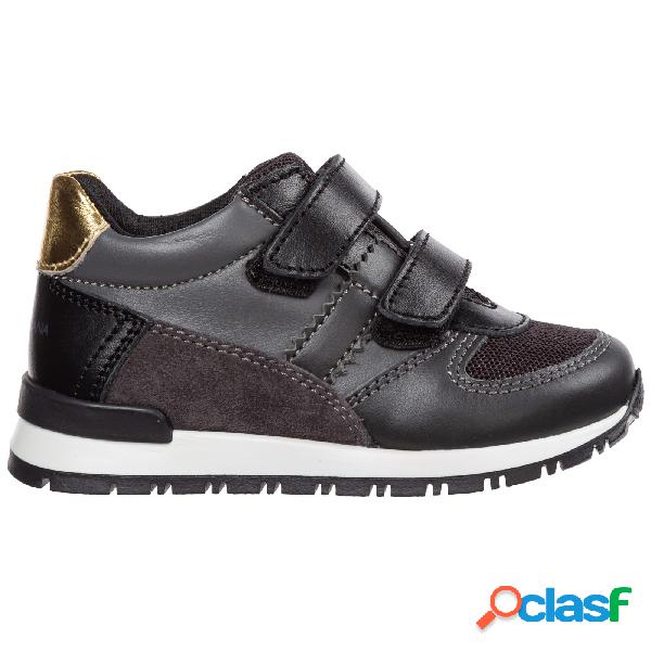 Scarpe sneakers bambino pelle
