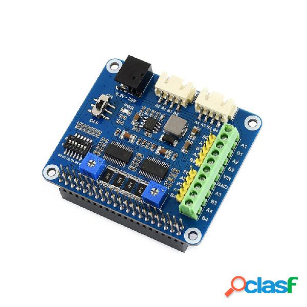 Hat motore passo-passo per raspberry pi drv8825 aziona due motori passo-passo fino a 1/32 di microstepping