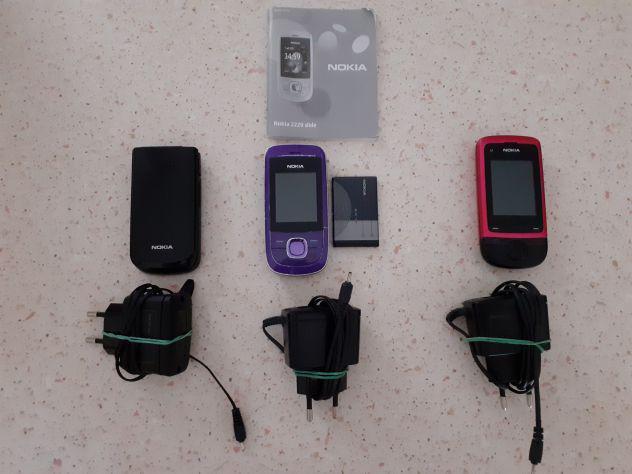 Lotto 3 cellulari vecchia generazione usati nokia modelli:
