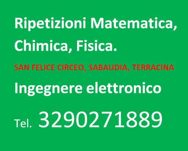 Ripetizioni matematica chimica fisica